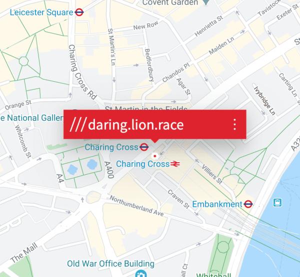 what3words random sentences london