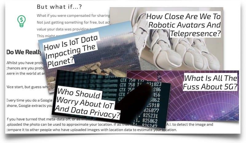 interesting technology articles - iot ai robotics data examples