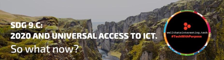 what is sdg9 global goals sdg9 target 9.c univeral access to ict communications and information - speaker slides presentation