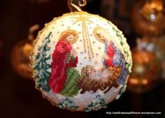 Incredible handmade petit point ornaments.
