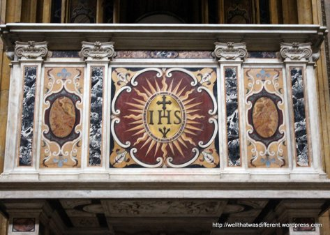 Chiesa del Gesu: another mosaic with the Jesuit seal