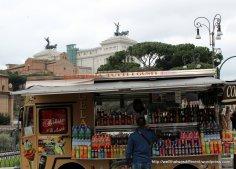 Food truck outside the Coliseum