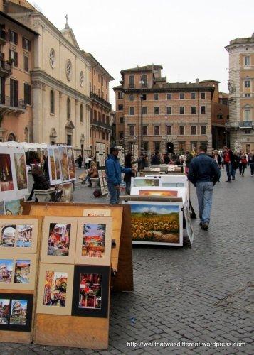 Art market at Piazza Navona