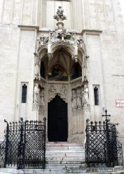 Partially reconstructed 14th century portico