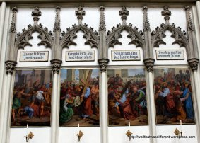 The stations of the cross, with helpful captions