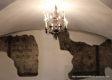 Original inscriptions in the Old Synagogue