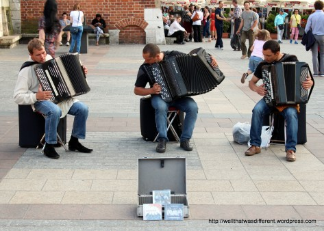 Bach's Toccata and Fugue in D Minor on accordions. This works!