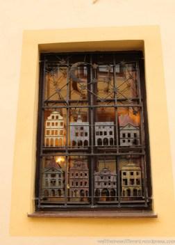 I LOVE these wrought iron windows.