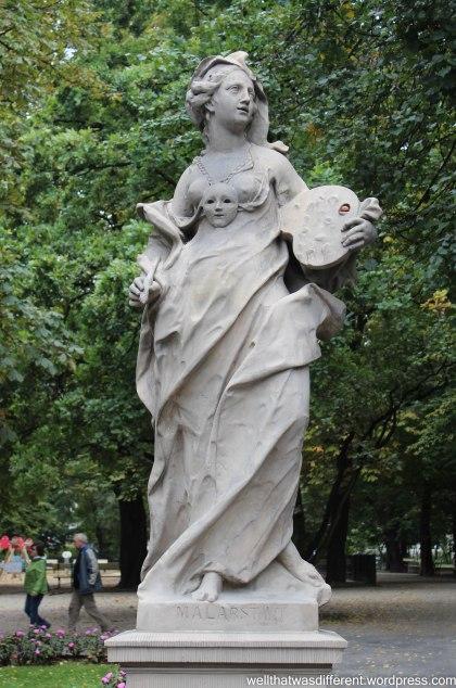 Statue in the Saxon Gardens.