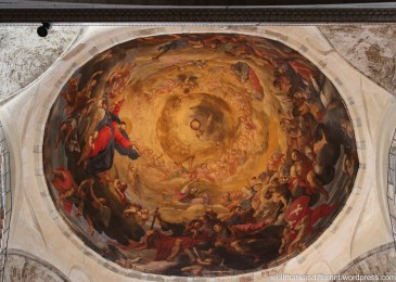 Inside the Duomo--frescoed ceiling.