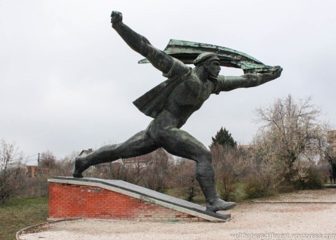 Memento Park. This one has some style--like a gigantic hood ornament.