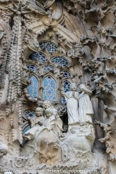Great combination of traditional Gothic windows and modernist sculpture.