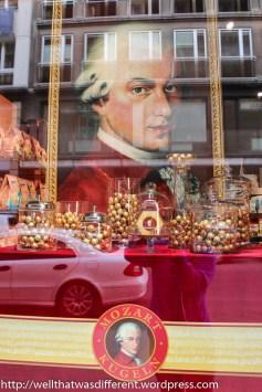Mozart looms over Stephansplatz.