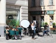 School pictures on Judenplatz.