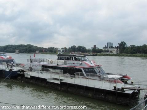 The boat we took to Bratislava.