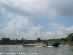 Barge headed upstream.