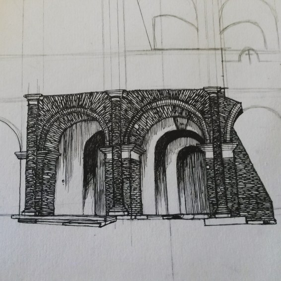 Colosseum arch ways