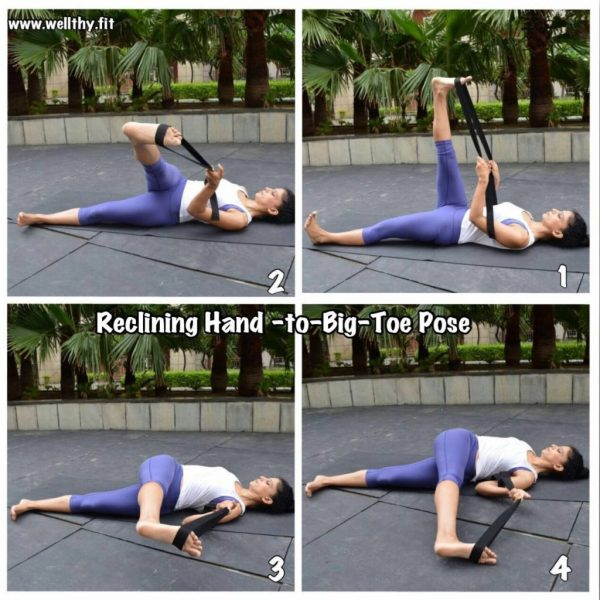 Reclicing Hand to big toe pose