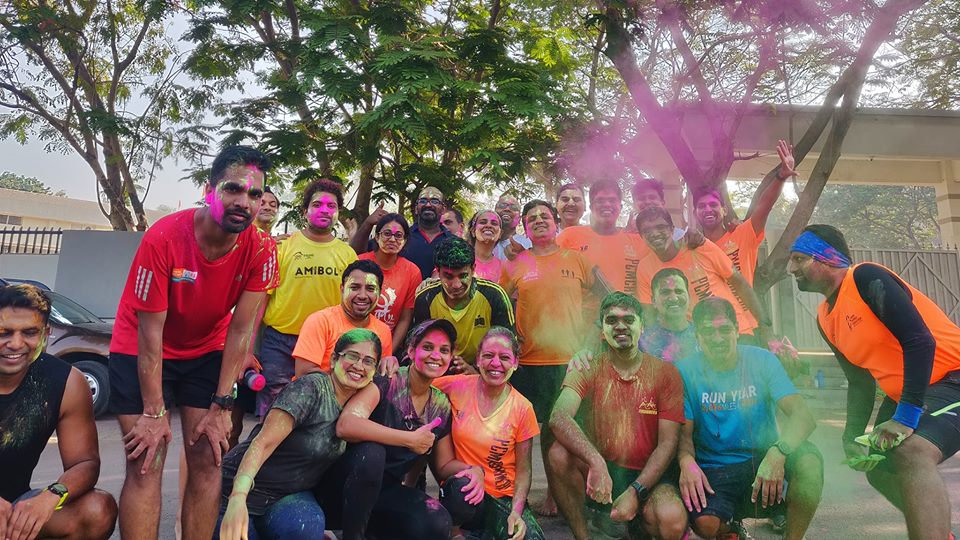 This excitement converted into a revelry of colours as we celebrated a belated Holi. WellthyFit.com. Pratima Doshi. PCMC Runners