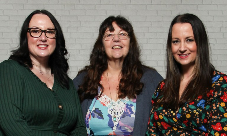 From left Lianne Russell, Jackie Wyke and Lindsey Flynn