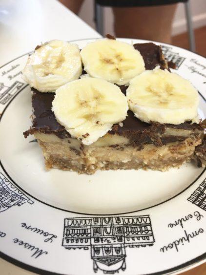 Chocolate Banana Cashew Cream Pie Bars Well Traveled Wife