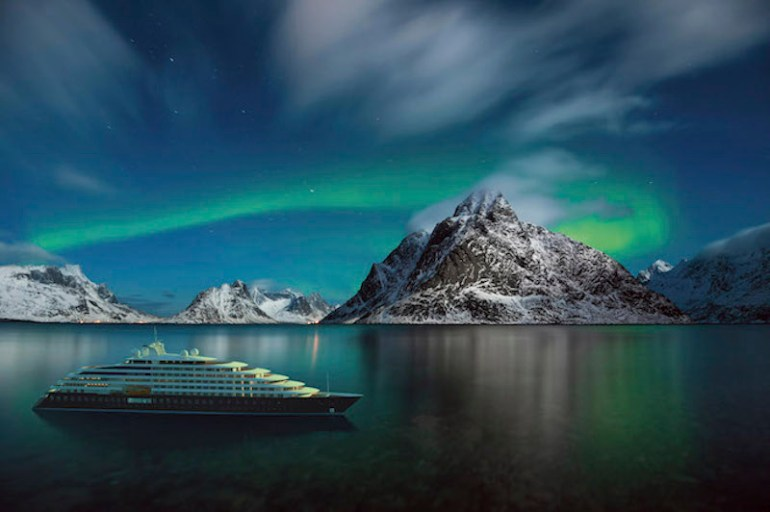 Scenic Eclipse and Northern Lights. Image courtesy Scenic.
