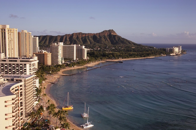 Diamond Head, Oahu, Hawaii.