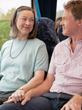 Couple on NSW train