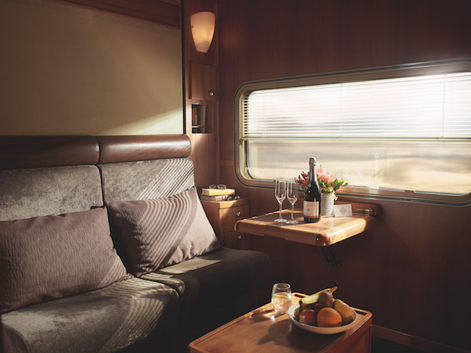 Platinum Service Cabin by day. Image credit Great Southern Railway.