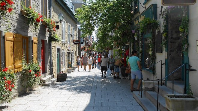 Old Quebec City Petit Champlain district.