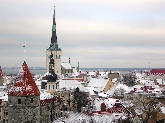 Old Town in Tallinn was home to the first Christmas tree.