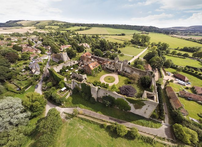 Amberley Castle from above - Image Amberley Castle