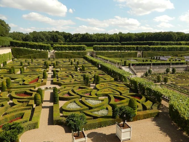 The gardens of Chateau Villandry.