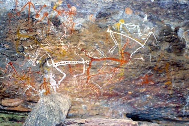 Ancient Aboriginal rock art from 40,000 years ago can still be seen today.