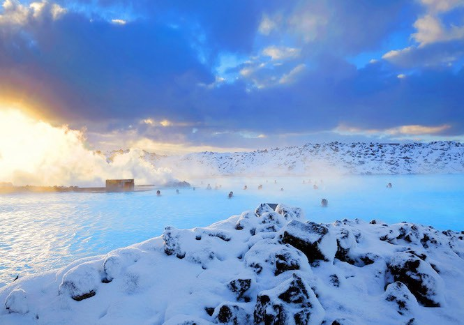 Blue lagoon in the winter – Image credit Blue Lagoon