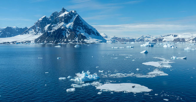 Stunning waters of Antarctica.