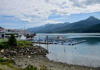 Alaskan salmon farm
