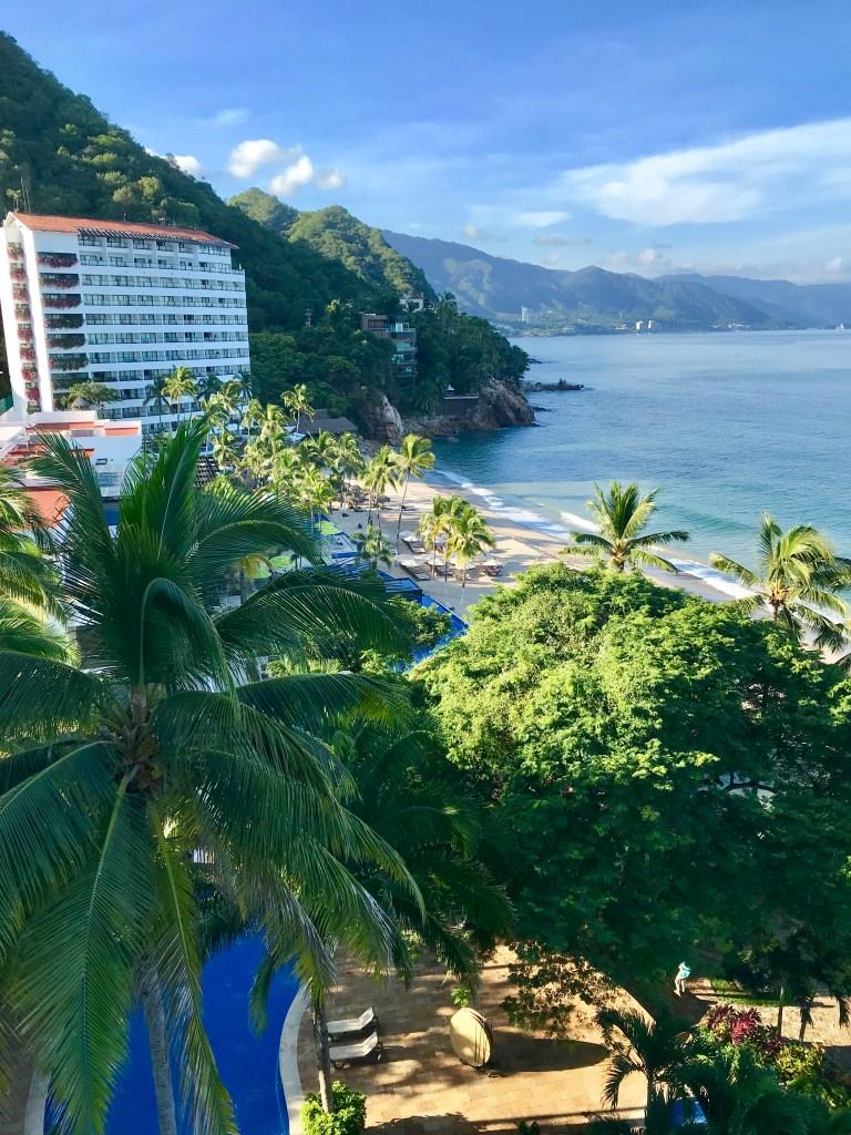 View of the Hyatt Ziva resort for the 19th floor