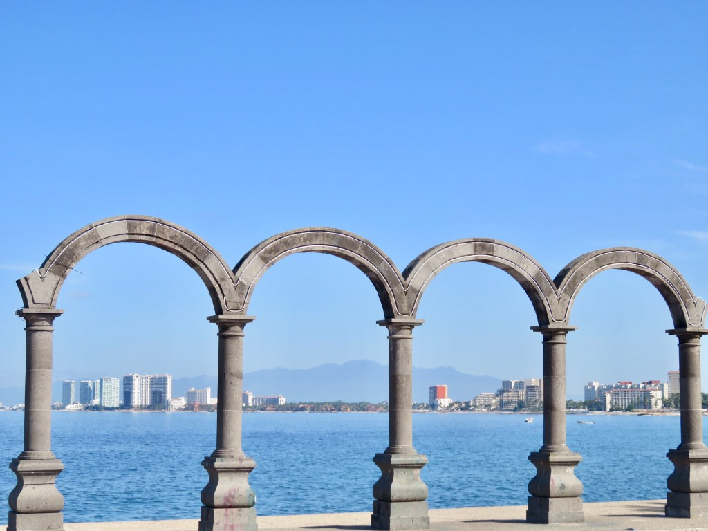 The Malecon Arches of Puerto Vallarta