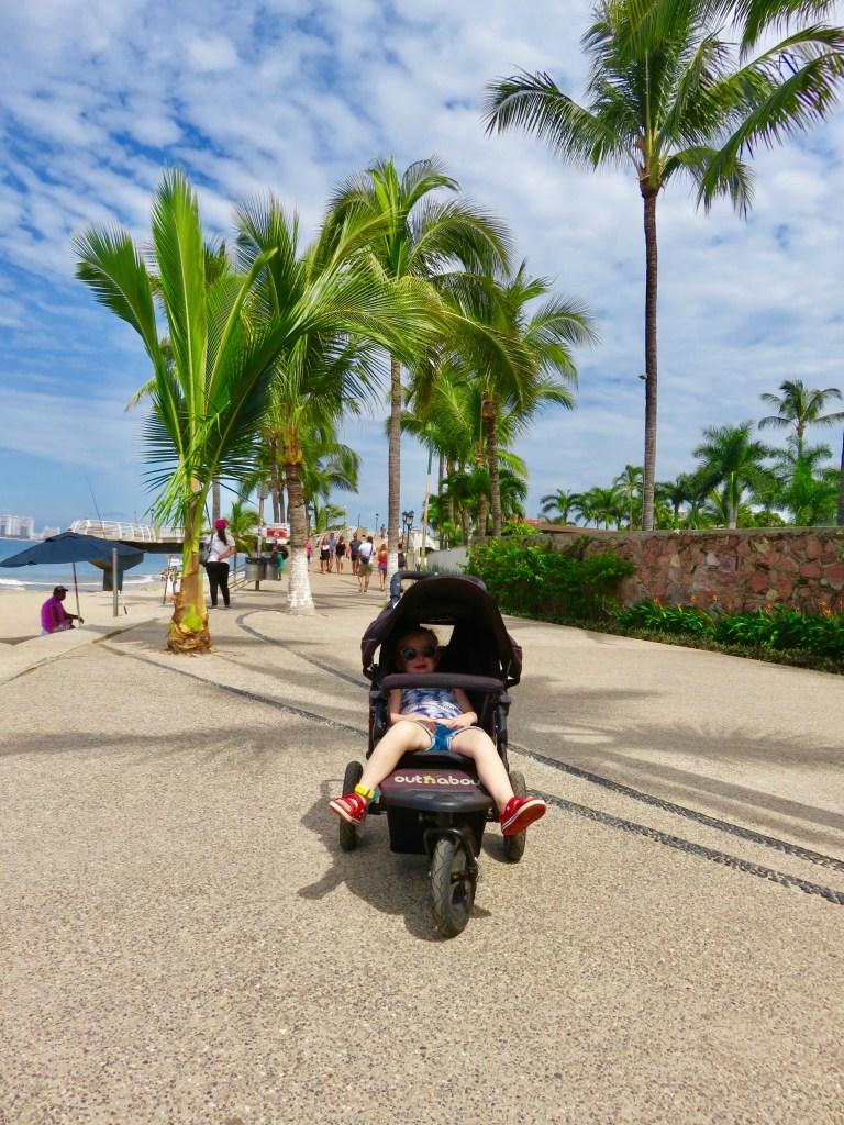 Take a walk along the El Malecon beachside promenade