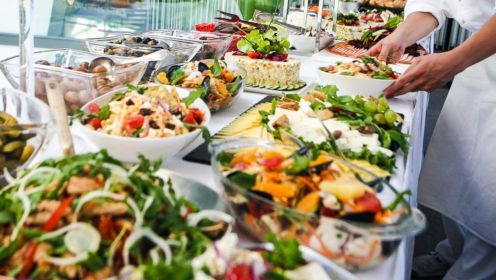 Food, food and more food at an all-inclusive hotel