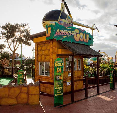 Adventure Golf in Southend-on-Sea with kids