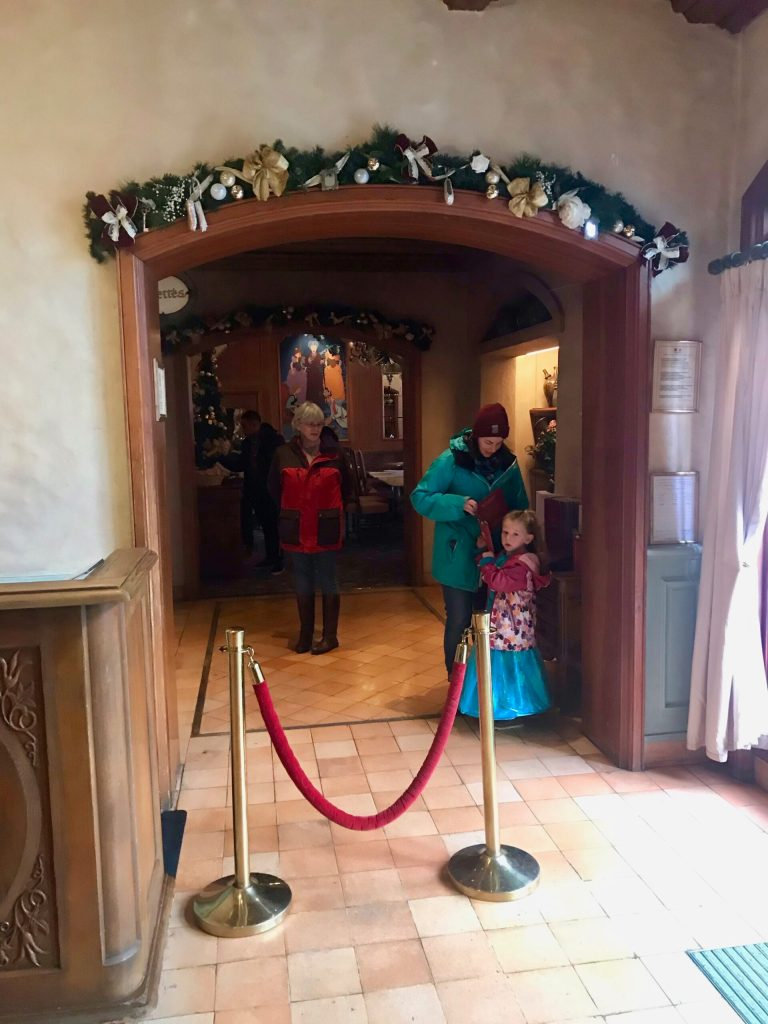 Entrance to the Princess Breakfast