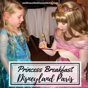 Princess Breakfast at Disneyland Paris