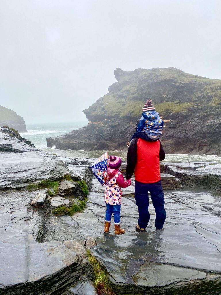 Boscastle with kids