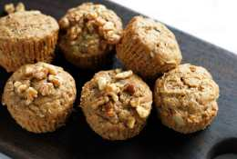 Vegan Banana Walnut Wheatgerm Muffin