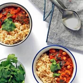 black eyed pea curry with greens