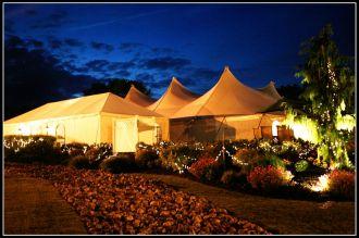 Wellwood wedding Pavilion at night