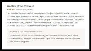 wedding at Wellwood Maryland review
