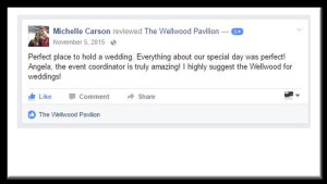 wedding testimonial customer feedback Wellwood